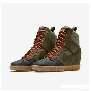 Nike Sky Hi Wedge Sneaker in Dark Loden Green